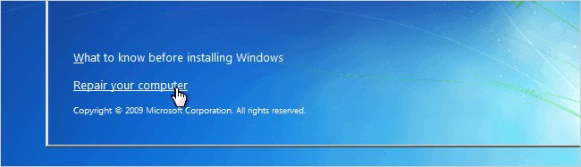 Reiniciar password Windows 7