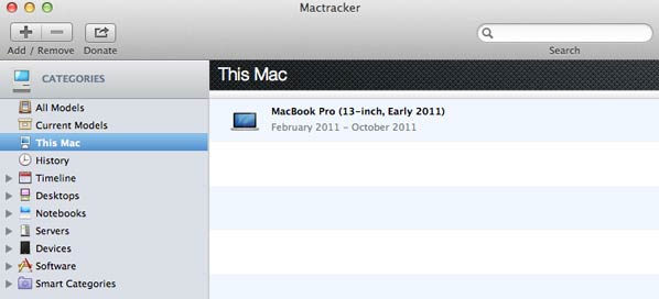 mactracker my Mac